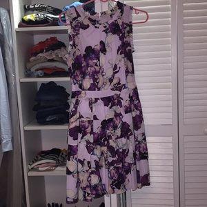 Banana republic Purple floral dress